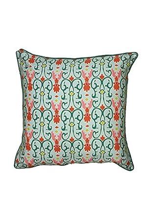 Rizzy Home Green Iron Sea Throw Pillow