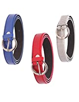 SPAIROW' Ladies fashion belt OMBO-LBC 03 (BLUE,RED,WITE)