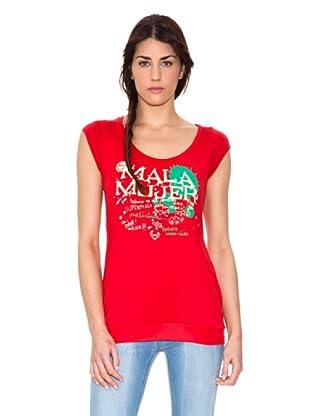 Mala Mujer Camiseta Eglé (Rojo)