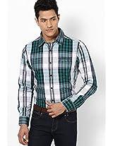 Checks Green Casual Shirt Numero Uno