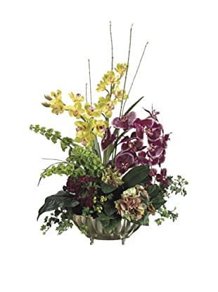 Allstate Floral Orchid & Hydrangea in Aluminum Container, Violet Green