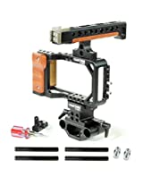 Flyfilms Professional Camera Top handle cage with rail rod support adapter for blackmagic pocket camera (FF-PC-BMPC)