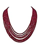 463 cts - 7 Line Ruby Beads Necklace