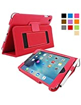 Snugg™ iPad Mini 4 Case - Smart Cover with Flip Stand & Lifetime Guarantee (Red) for Apple iPad Mini 4 (2015)