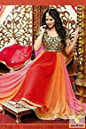 Red and Cobalt Blue Bridal Anarkali Salwar Suit