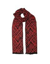 Tiekart Mens Viscose Scarves -Red -Free Size