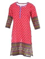 Pure Nautanki Women's Cotton Round Neck Kurti (SK-2056_XXL, Purple, XXL)