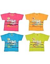 Dear Kidz Baby Boys,kids Cotton T-shirt,half sleeve,for 6-24 Months Pack of 4