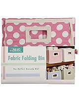 Badger Basket Folding Nursery Basket/Storage Cube, Pink Dot