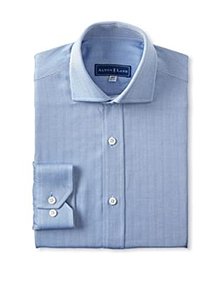Alton Lane Men's Herringbone Dress Shirt (Blue)
