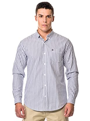 Timberland Camisa M/L Righe (Azul oscuro)