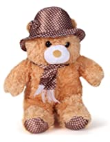 Tickles Brown Cap Teddy Stuffed Soft Plush Toy 36 cm