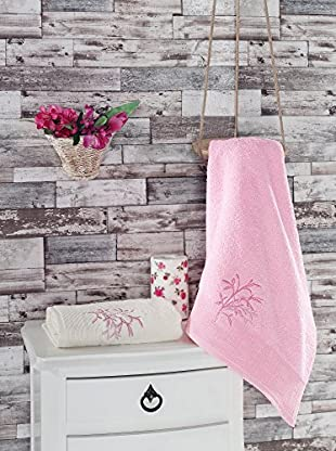 Homemania Handtuch 2er Set Februs rosa 50 x 90 cm
