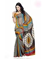 Shariyar Multi Color Art Silk Printed Saree PRG347