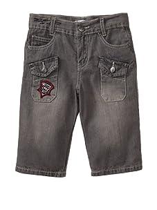 Alphabet Boy's Motorcycle Jeans (Grey)
