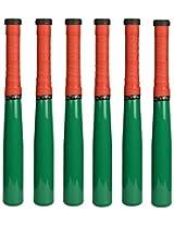 Mayura P Aluminum Alloy Women's Softball Bat, 24 inch, Set of 6 (Green)