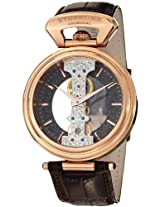 Stuhrling Original Men's 237.3345K54 Special Reserve Emperor Spire Mechanical Skeleton Rose Tone Watch