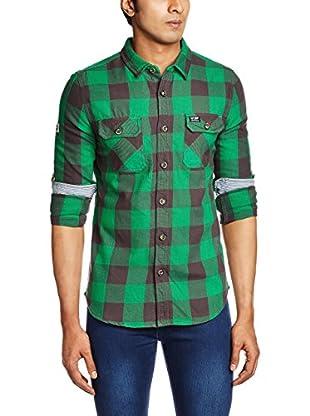 Superdry Camicia Uomo Flanagan Forest