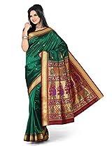 Ishin Silk Saree With Blouse Piece ( STCS-67_Green)