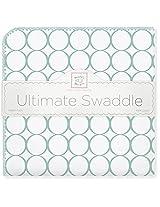 SwaddleDesigns Ultimate Swaddle Blanket, Mod Circles, SeaCrystal