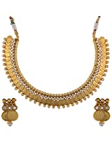 Dishi temple necklace earring south indian Charm jewellery set for Women