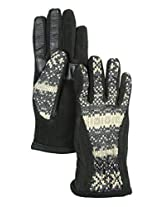 Isotoner Signature Women's Polyester Active Smart Touch Gloves Black Medium XS-S