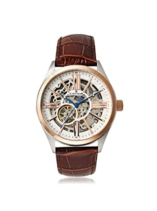 Earnshaw Men's 8037-04 Armagh Brown/White Stainless Steel Watch