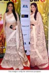 Bollywood Replica Sri Devi Net Lehenga Saree In Off White Colour NC690