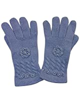 Graceway Unisex Cable Gloves (5G20, Dark Blue)