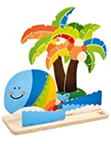 Hape - Paint it Yourself Tropical Island Wooden Craft Kit