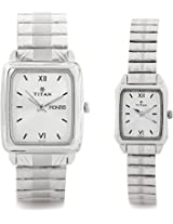 Titan Bandhan Analog Watch For Couple Silver 15812488SM03
