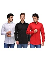 Feed Up Combo of 3 Men's Shirts 38