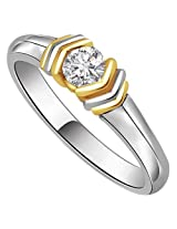 0.23 ct Diamond Two Tone Solitaire Ring