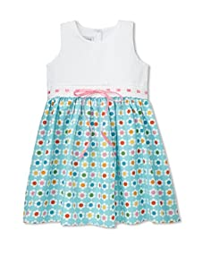 Noa Lily Girl's Cut Out Back Pique Top with Flower Skirt (Multi)