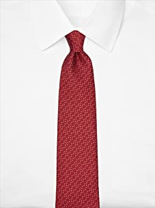Nina Ricci Men's Dotted Jacquard Tie, Red