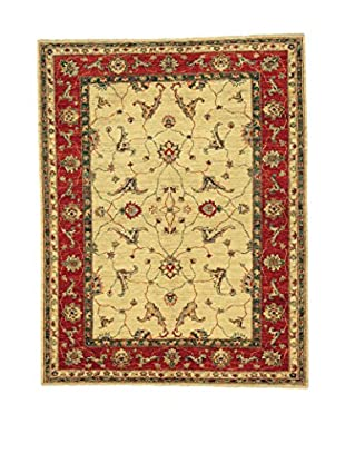 L'Eden del Tappeto Teppich Ciubi beige/rot 235t x t183 cm