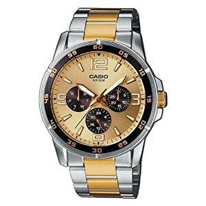 Casio Enticer Luminous Analog Yellow Dial Men's Watch - MTP-1299SG-9AVDF (A482)