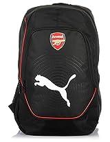 Black/White/Red Backpack