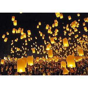 Sugarman International Ltd. Best Sky Lanterns - Colorful Flying Chinese Lanterns (Pack of 25)