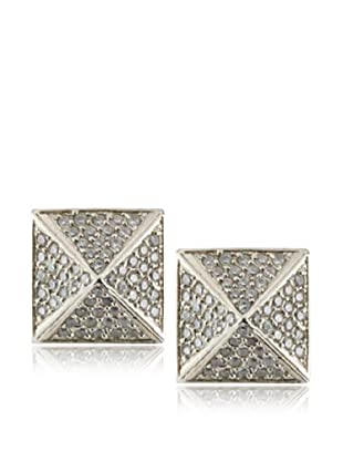 Joanna Constantine Silver Pyramid Stud Earrings