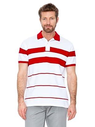 Cortefiel Polo Streifen (Rot)