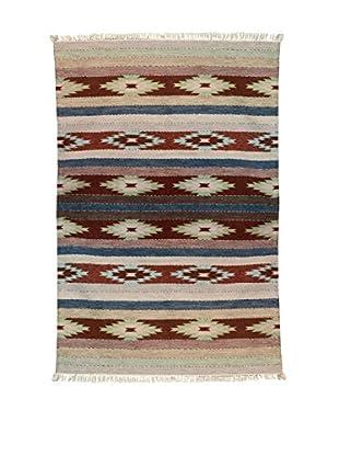 Wool Southwestern Style Rug, Multi Color