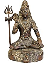 Lord Shiva Granting Abhaya - Brass Statue