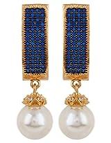 Adwitiya Collection Diamonds And Pearl Earrings for Women