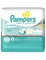 Pampers Baby Wipes Sensitive 3X, 168 Count