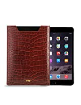 Gogappa 10 inch iPad Air Sleek Croc Embossed Rich Leather Sleeve Pouch Case Cover (Red)