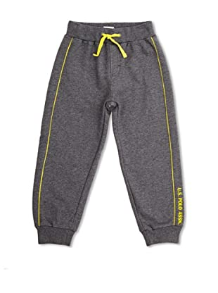 US Polo Assn Pantalón Junior Player (Gris Oscuro / Amarillo)