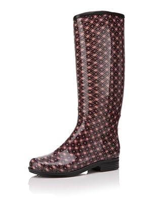 däv Women's English Printed Knee-High Boot (Blush)