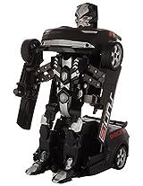 TurboZ TT661A Remote Control Changing Robot Car, Black