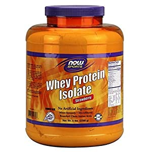 Now Foods Whey Protein Isolate Nutritional Supplement Strawberry/5 Pound AD